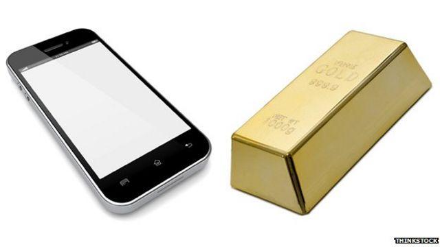 Oro de celular