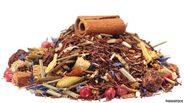 Especias y hierbas para té
