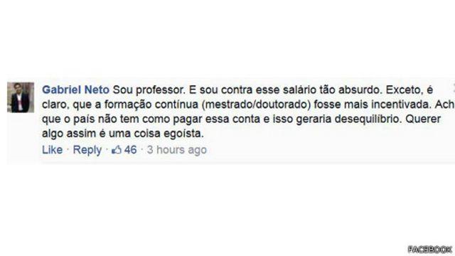 Para professor ouvido pelo Facebook da BBC Brasil, salário almejado por Buarque seria inviável