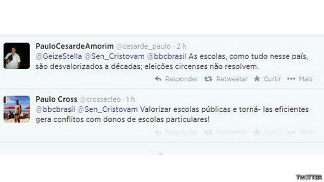Pelo Twitter, leitores comentaram a entrevista do senador à BBC Brasil