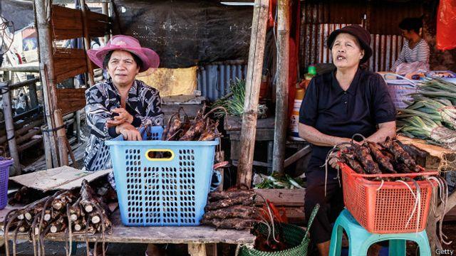 En Indonesia, también se venden ratas en los mercados.