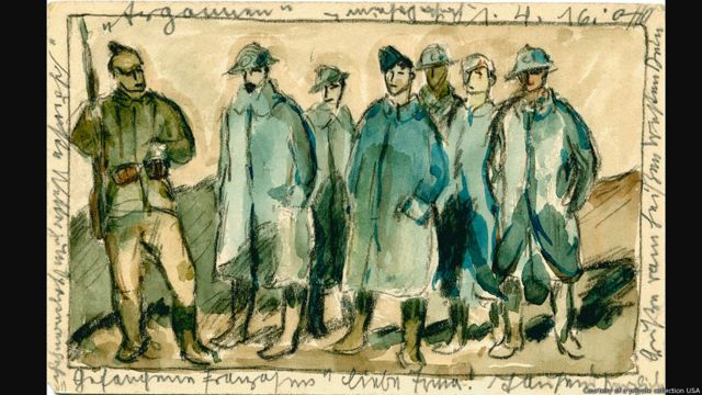 Otto Schubert postcards. Postcards from the Trenches, Germans and Americans Visualize the Great War