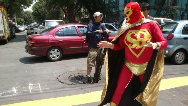 Superbarrio, héroe urbano de Ciudad de México. Foto: BBC