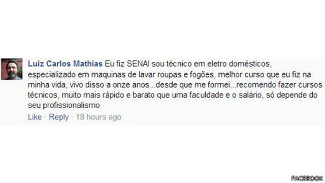 Pelo Facebook, o Luiz Carlos Mathias compartilhou este relato