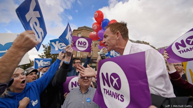 Сторонники и противники независимости Шотландии