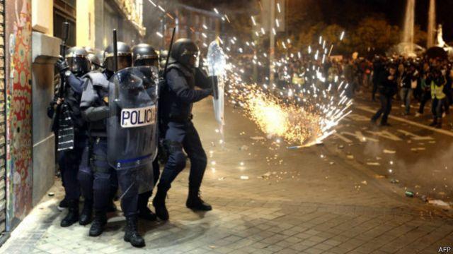 Disturbios en España.