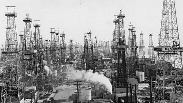 Pozos petrolíferos en Los Ángeles