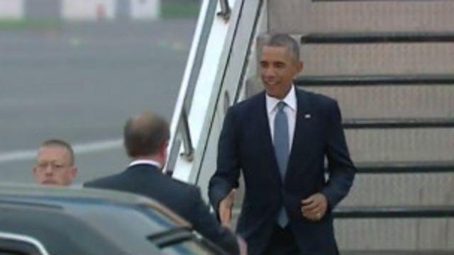 Perezida Obama yatanze ikiganiro ku rupfu rwa Sotloff  ageze muri Estonia