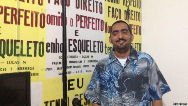 Reginaldo Gonçalves, coordenador da ONG Unas, em Heliópolis