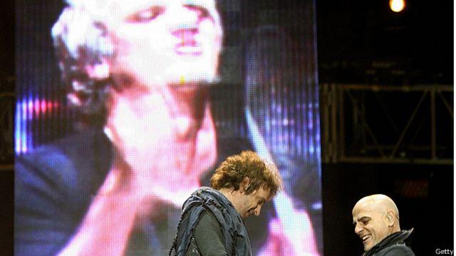 Gustavo Cerati y Zeta Bosio