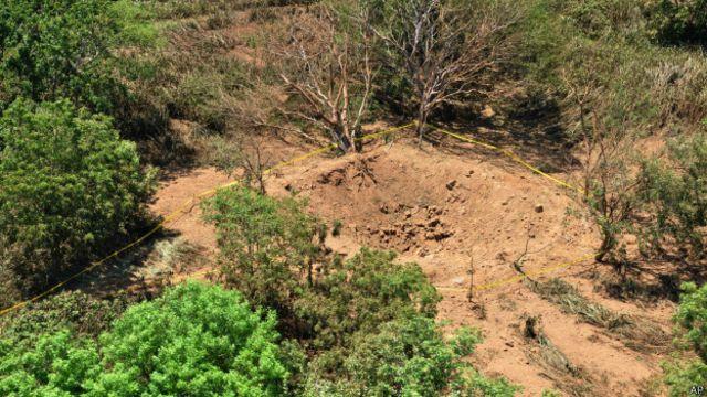 Cráter cerca del aeropuerto de Managua