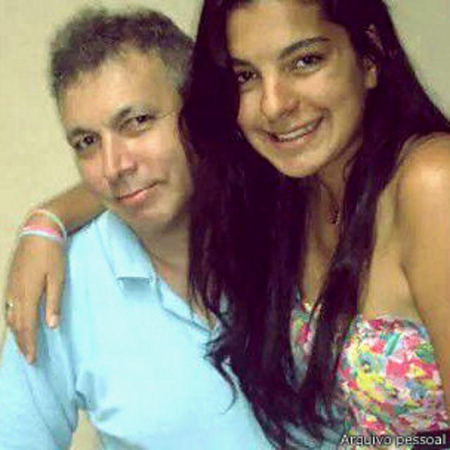 Fernanda e seu pai