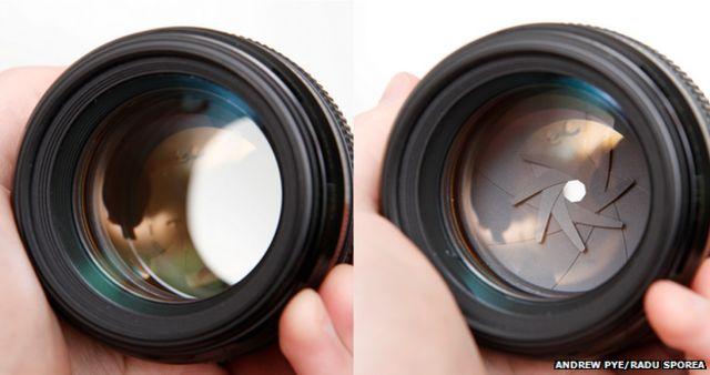 Un lente con diferentes aperturas