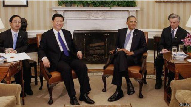 Los presidentes de EE.UU. y China, en una reunión