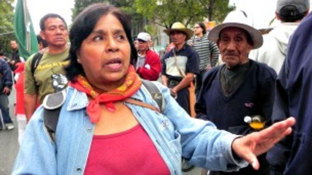 María Trinidad Ramírez, una de las líderes del FPDT que se opone al nuevo aeropuerto en Ciudad de México