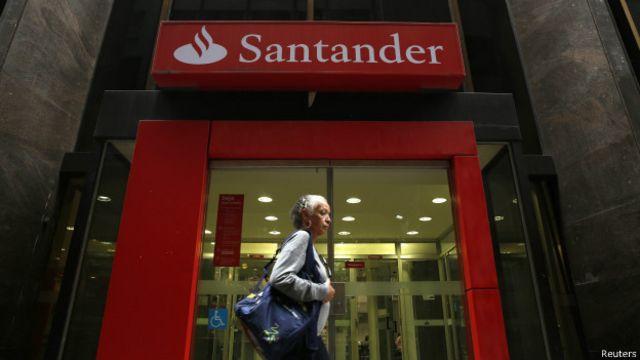 Sucursal del Banco Santander en Río de Janeiro, Brasil.