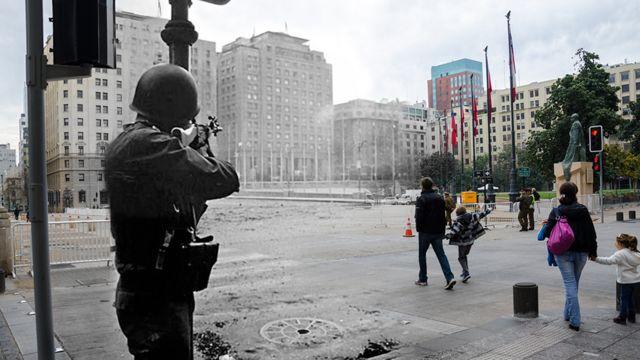 'Imagens revelam contraste do momento atual com drama e violência vividos em 11 de setembro de 1973.