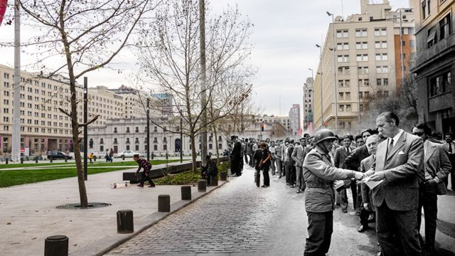 Imagens revelam contraste do momento atual com drama e violência vividos em 11 de setembro de 1973.