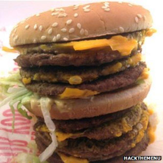 "Hamburguesa ""monstruo"" de McDonald's"