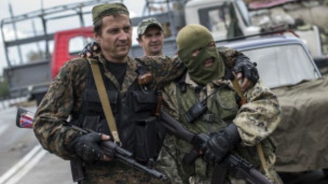 Abarwanya leta ya Ukraine bahagaze ku kirindiro hafi y'ikibuga ca Donetsk