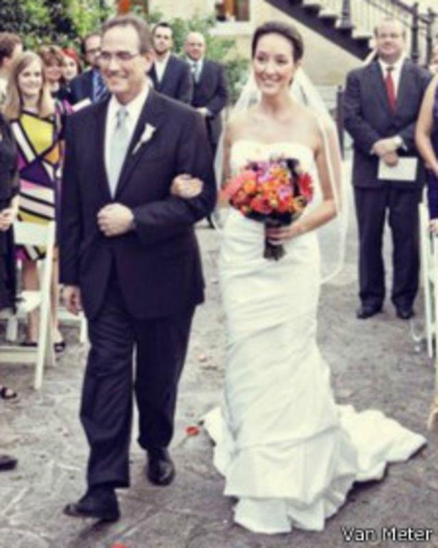 Sonia Van Meter en su boda