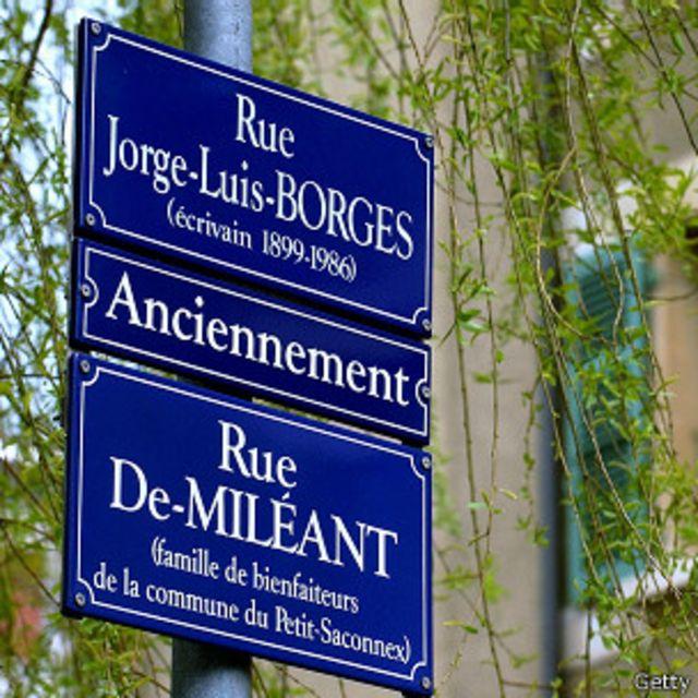 Calle nombrada en honor a Borges en Suiza