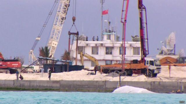 Construir islas es una nueva estrategia de China en la zona.