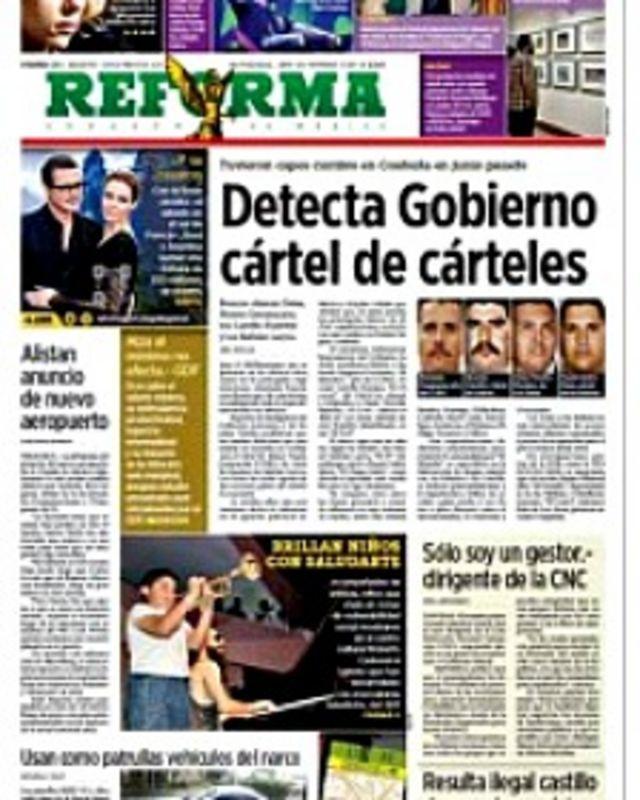 La noticia de la cumbre de capos fue dada por el diario Reforma.