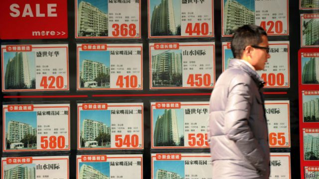 Agencia inmobiliaria en China.