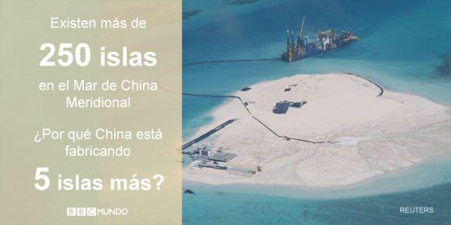Nuevas Islas en el Mar de China Meridional