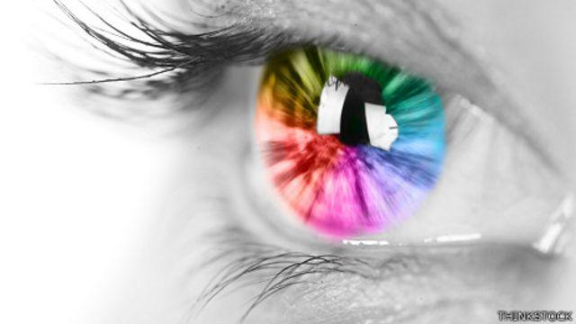 Ojo multicolor