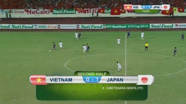 Bàn thắng của cầu thủ số 9 Omotehara Genta U19 Nhật Bản ghi ở phút thứ 75.