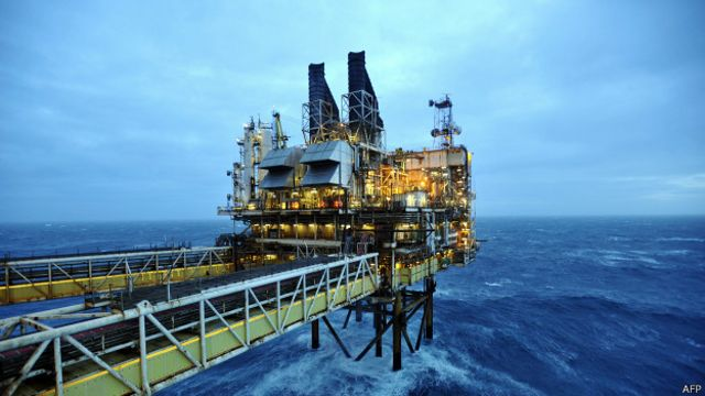 Plataforma petrolera en Escocia