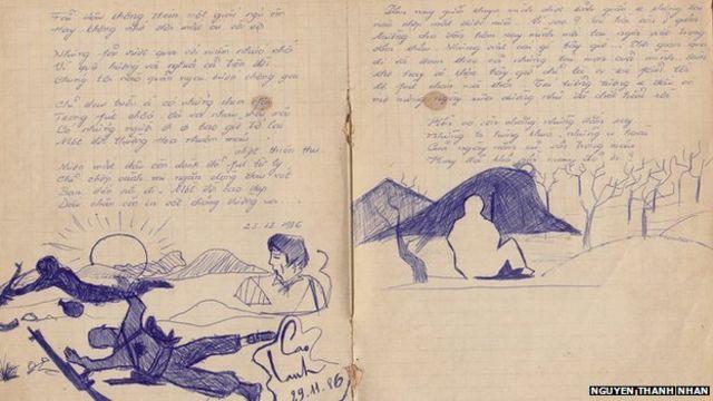 Đây là mộôt trang trong nhật ký của ông Nhân mô tả trận chiến năm 1986