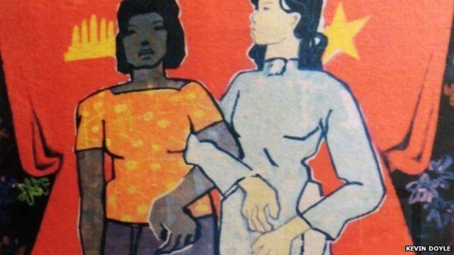 Một bích chương cổ động cho tình hữu nghị Việt Nam-Campuchia