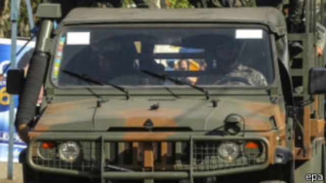 Soldados en Rio de Janeiro
