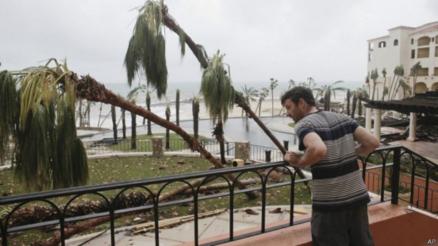 Paso del huracán Odile