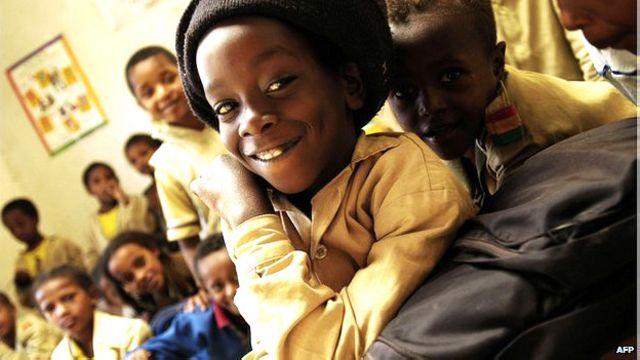 Niño de la comunidad rastafari en Shashamene