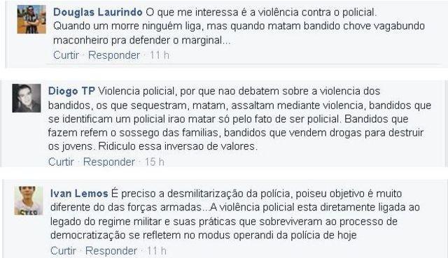 Leitores da BBC Brasil se manifestaram sobre o tema pelo Facebook