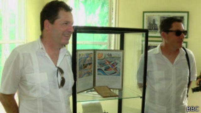 John y Patrick Hemingway visitaron la casa de su abuelo en Cuba junto a científicos marinos.