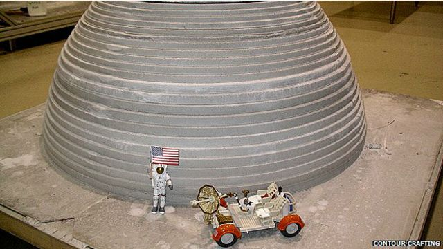 Impresión de edificio para el espacio con tecnología Contour crafting