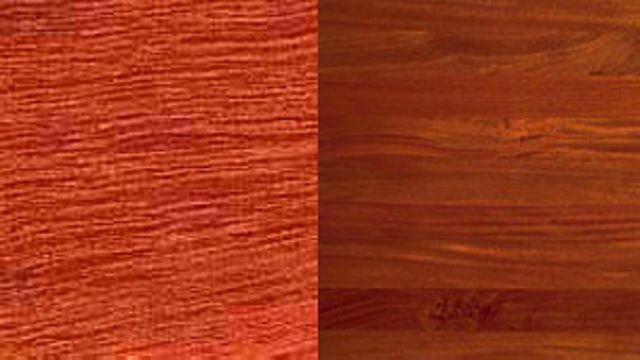 Parquet de madera de cedro y caoba