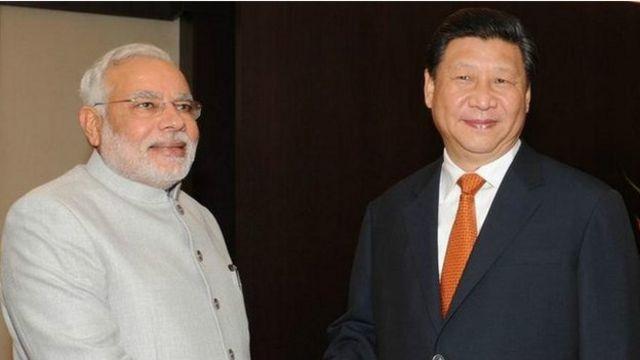 Thủ tướng Ấn, ông Modi và Chủ tịch Trung Quốc, ông Tập Cận Bình hôm 15/07/2014