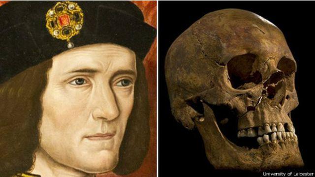 Retrato y cráneo de Ricardo III