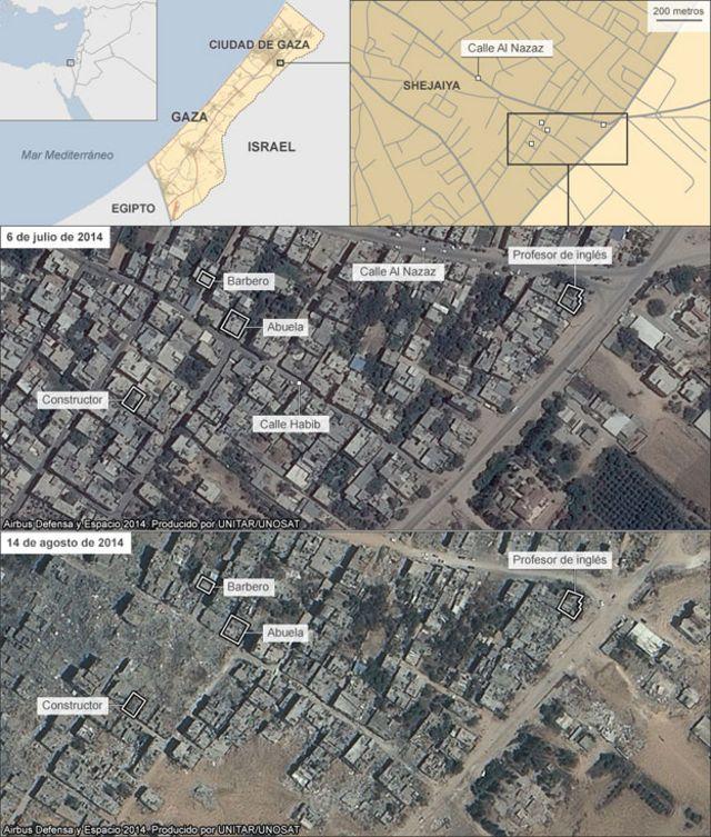Mapa de Shejaiya.