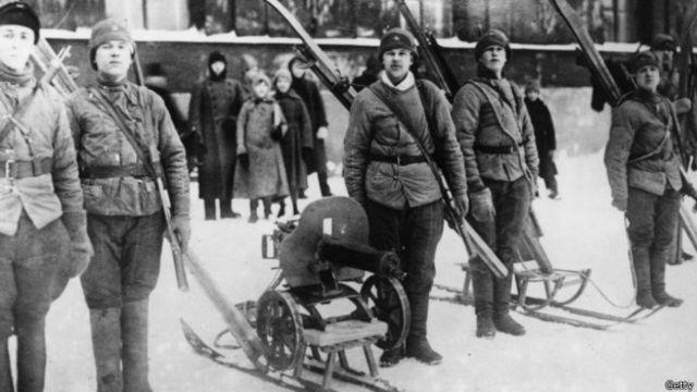 Hồng quân Liên Xô vào mùa Đông năm 1920