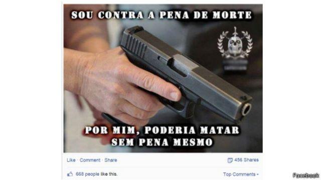 Páginas criam memes com apoio à violência praticada por policiais