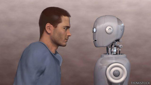 Humano y robot