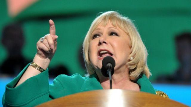 Cristina Saralegui durante la convención del Partido Demócrata de Estados Unidos en septiembre de 2012. Foto: AFP/Getty