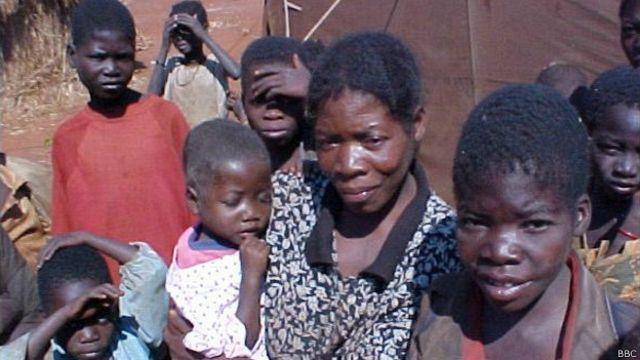 Desplazados en Angola